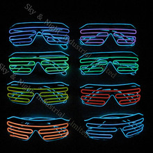 Hot product EL Wire Sunglass ,Sound Activated Light Up El Wi