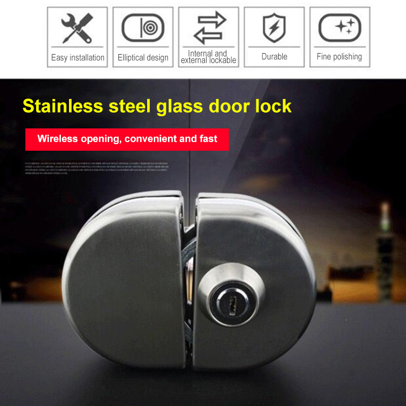 Stainless Steel 10-12mm Glass Door Security Lock Double Swing Hinged Push Gate Lock  JDH99Stainless Steel 10-12mm Glass Door Security Lock Double Swing Hinged Push Gate Lock  JDH99