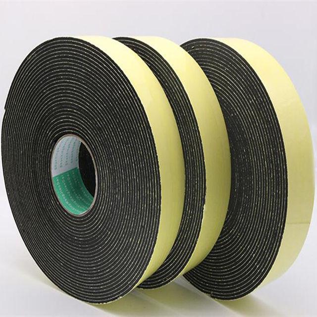 Bande détanchéité anti-collision en caoutchouc EVA   Éponge noire à forte adhérence, bande de caoutchouc 1, 2, 3mm dépaisseur