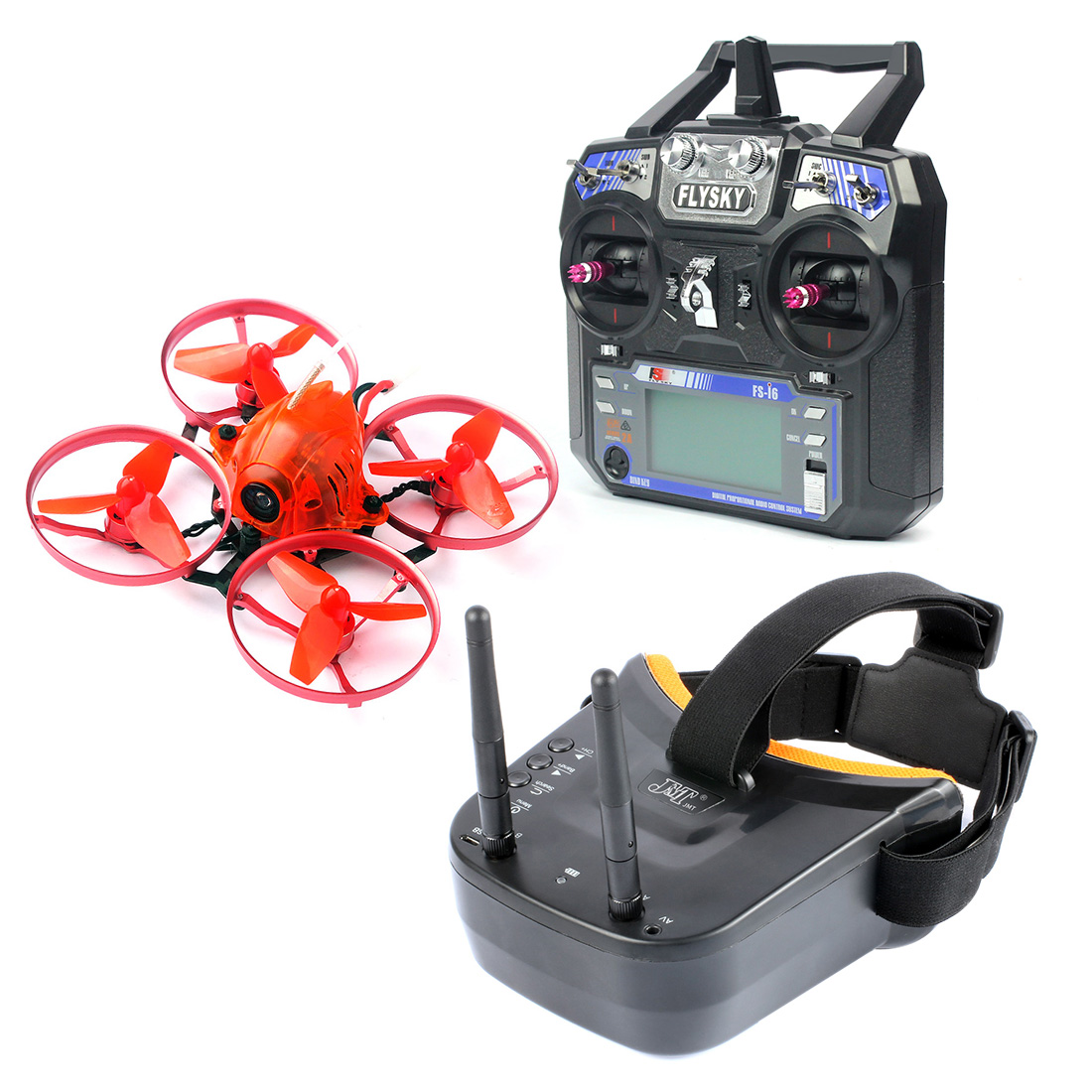 Snapper7 Brushless Micro 75mm 5.8G FPV Racer Drone 2.4G 6CH RC Quadcopter RTF 700TVL Camera VTX & Double Antenna Mini Goggles jmt snapper7 brushless whoopi aircraft bnf micro 75mm fpv racer quadcopter 4in1 crazybee f3 fc flysky frsky rx 700tvl camera vtx