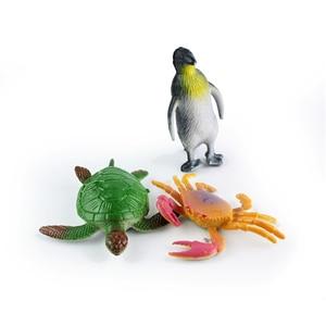 Image 5 - 5pcs Sea Life Model Simulation Toys Pool Fish Toy Fish Miniature Early Education Marine Animals Figure Gift For Children