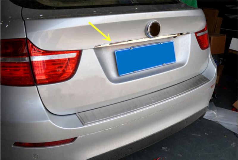Car Styling 1pcs Stainless Steel Rear Trunk Lid Molding Decoration Cover Trim For BMW X6 E71 2009-2014
