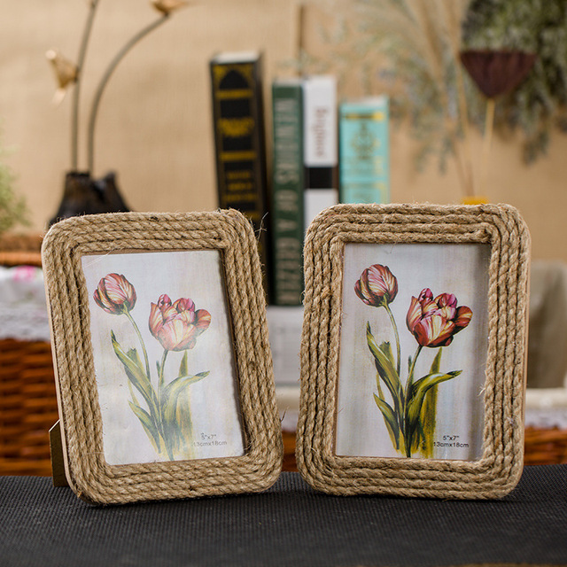 Handmade Linen 7 Inch Photo Frames Wedding Couple Pictures Frames ...