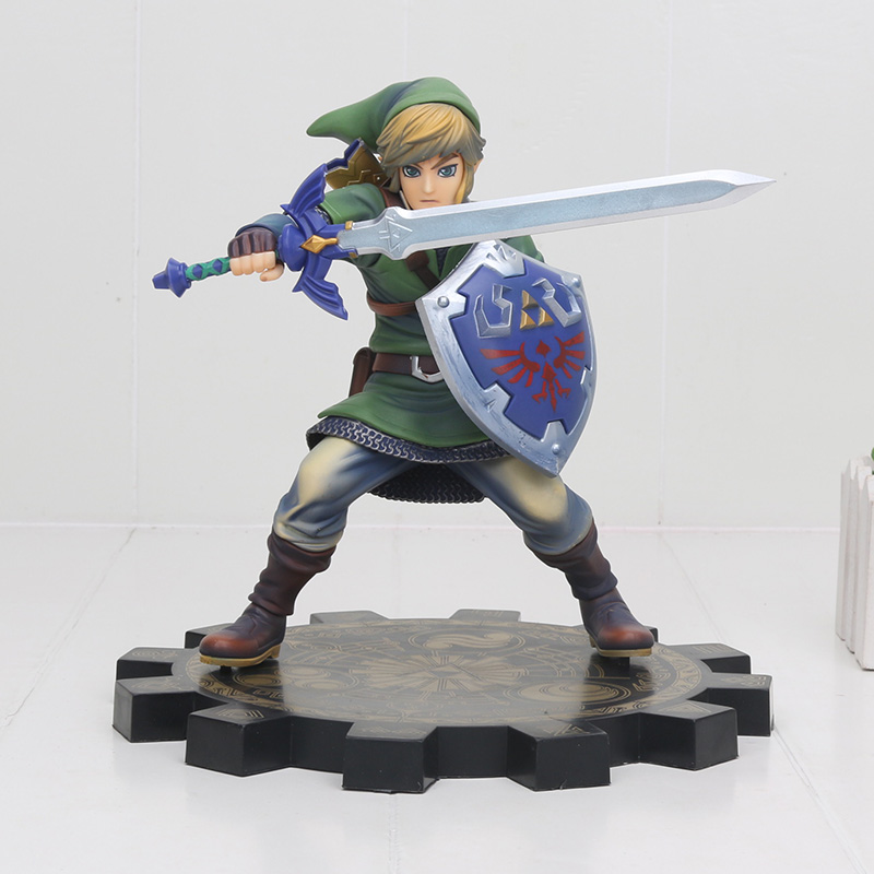 big size Link Zelda Legend of Zelda Breath of the wild Sky Ward Game Toy Zelda Sword Link Figma pvc action Figure toys 1