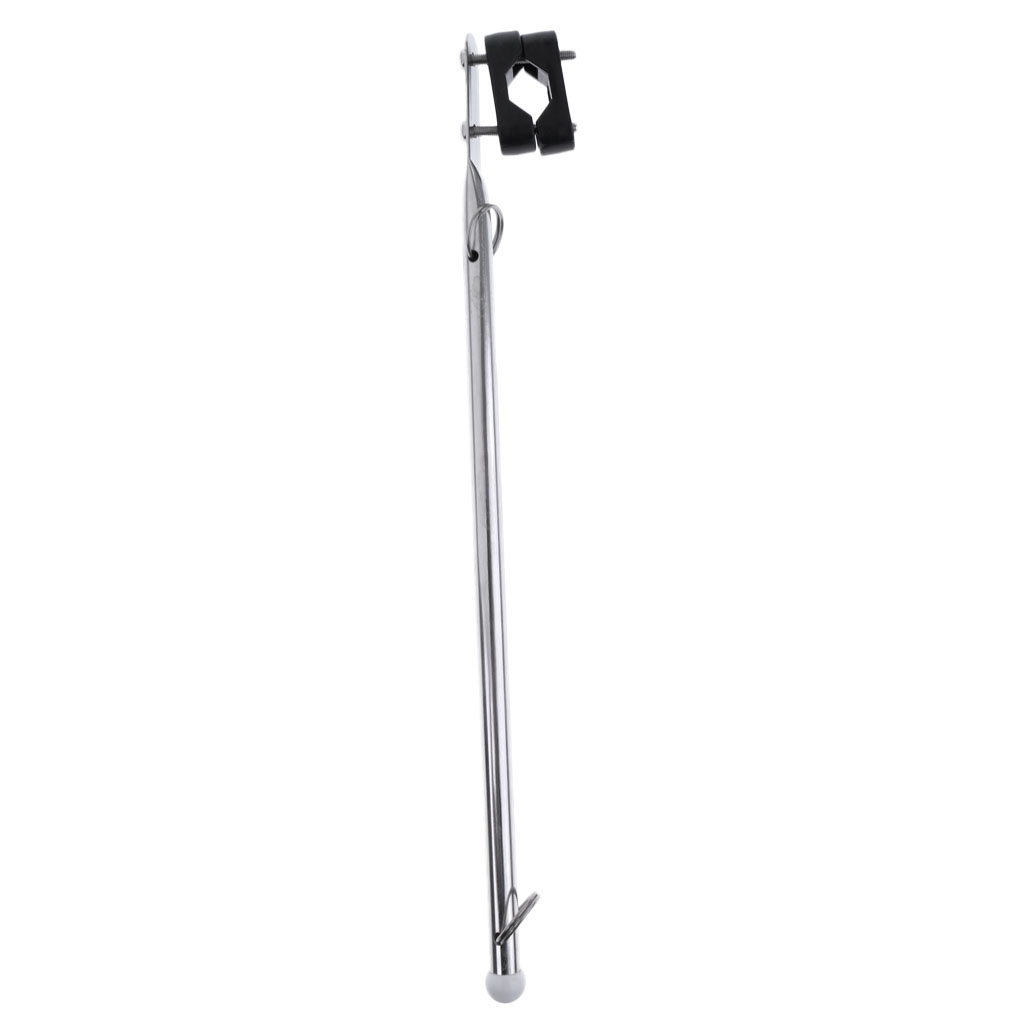 39cm Stainless Steel Rail Mount Deck Flag Staff Pole for Boat Yacht Sailing