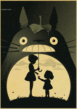 Adesivo De Parede Neighbor Totoro Anime Posters Poster Hayao Miyazaki Kraft Paper Painting Decorative Vintage