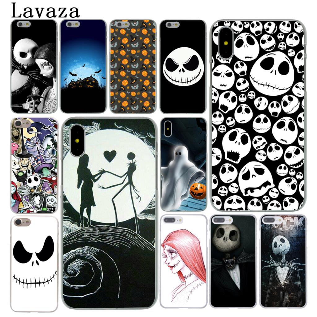 half off a455e ef60b Lavaza Nightmare Before Christmas Halloween Cover Case For Apple Iphone X  XS Max XR 6 6S 7 8 Plus 5 5S SE 5C 4S 10 Phone Cases