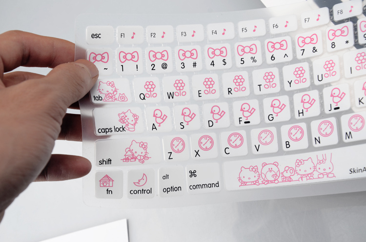 free shipping US Version hello kitty Silicone Soft Keyboard Cover Skin Sticker for 13 15 Apple Macbook Air pro/retina/Imac G6 ...