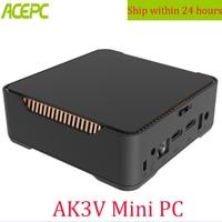 ACEPC AK3V мини ПК Intel Celeron J3455 4 ГБ 32 ГБ 6 ГБ 64 Гб Windows 10 Расширенный HDD двойной HDMI VGA, WIN 10 шт. мини набор верхней коробки