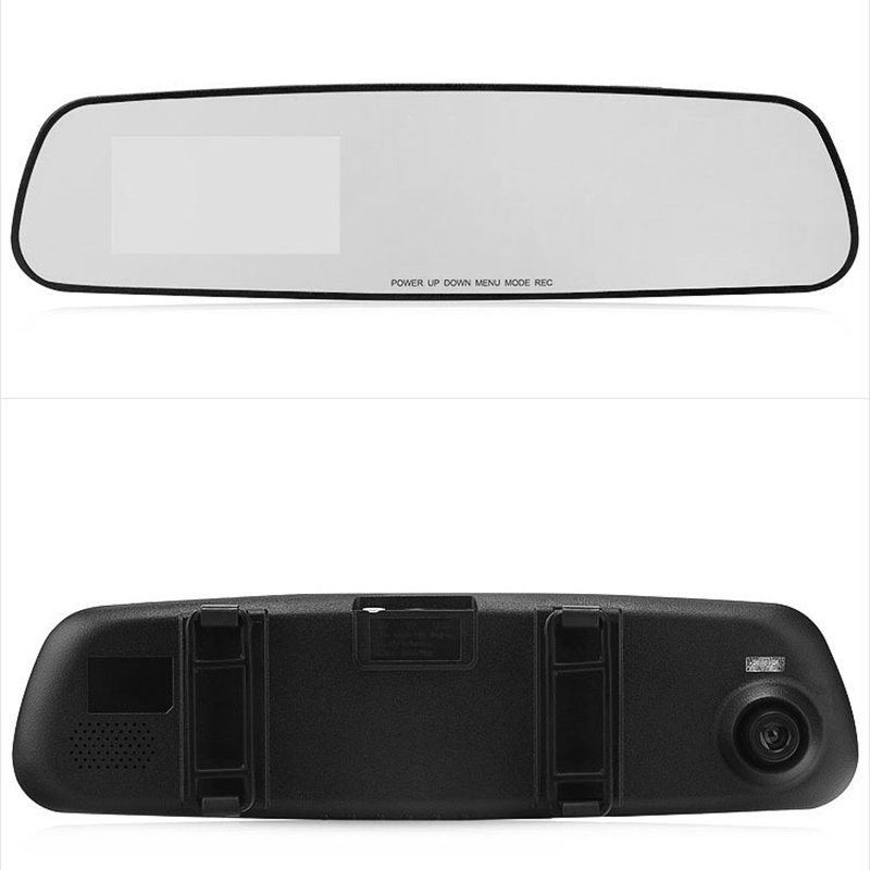 2018 Auto Dash Cam Car Dvr 3.2 Inch Camera Rearview Mirror Double Lens 1080P HD Car Dvr Detector Traveling Data Video Recorder