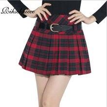 ec538d93bc6 Rihschpiece Lolita Mini jupe femmes Vintage Kilt hiver Tutu jupe femmes  Shorts jupes plissées taille haute