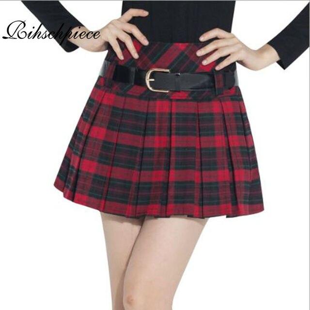 7e4527952e575e € 14.28 15% de réduction|Aliexpress.com: Acheter Rihschpiece Lolita Mini  jupe femmes Vintage Kilt hiver Tutu jupe femmes Shorts jupes plissées ...