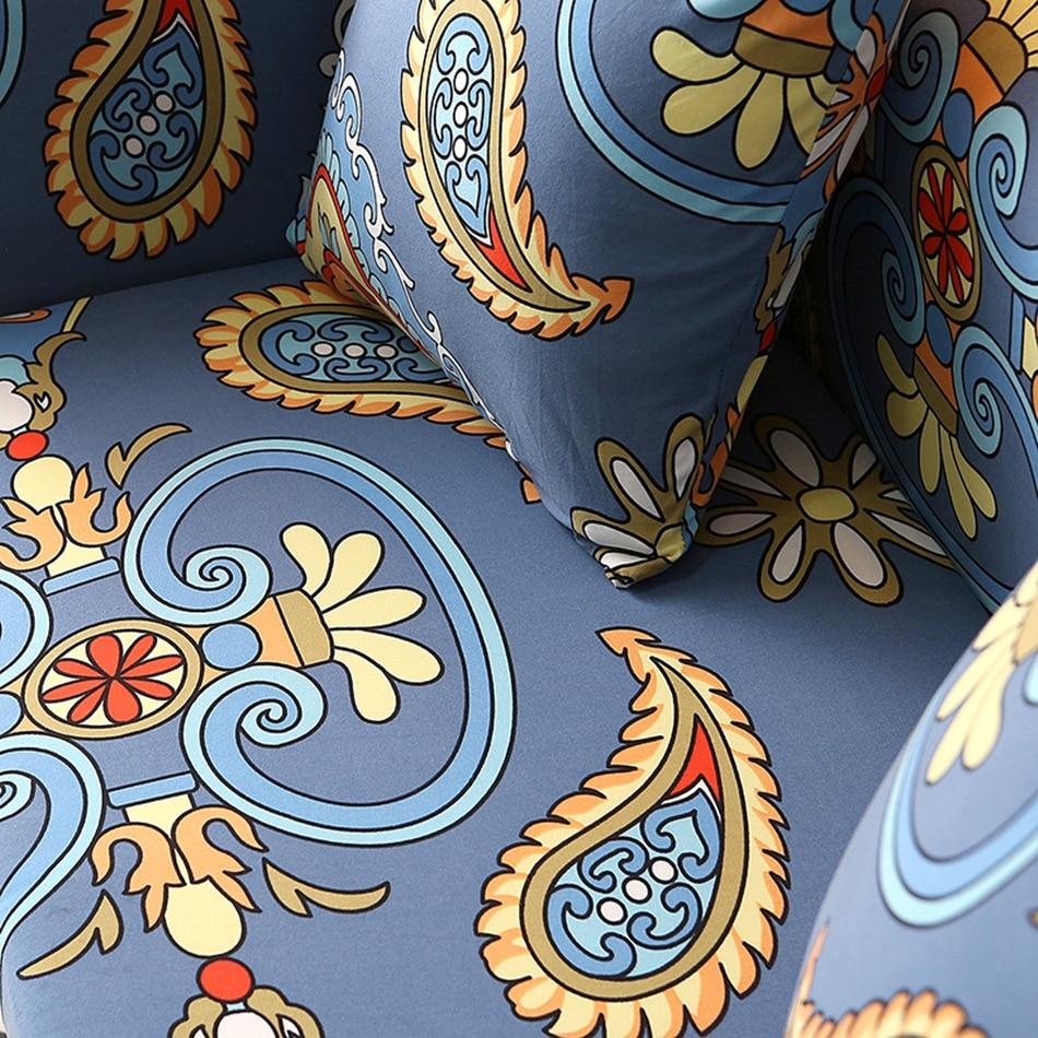 Estiramiento Azul Fundas Para Muebles De Decoraci N Para El Hogar  # Muebles Bohemia