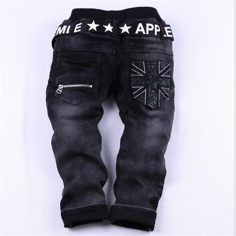 Image 5 - Kids boys spring autumn2017 black jeans big virgin trousers fashion pants boys brand children casual for boys chottn long pants-in Pants from Mother & Kids