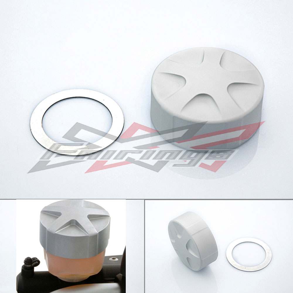 ФОТО FREE SHIPPING CNC aluminum Brake Fluid Oil Container Lid Cap Fit for BMW R1200GS ADV