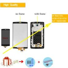 Original LCD For LG G4 mini G4 Beat G4S H735 H736 LCD Display Monitor Panel Touch Screen Digitizer with Bezel Frame Assembly for lg g4 h810 h811 h815 lcd display touch screen digitizer assembly frame black