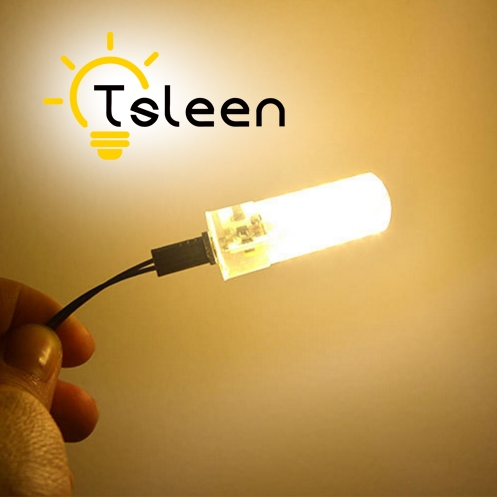 TSLEEN G4 G9 LED Lamp 3W 3.5W 5W 6W 8W 9W LED 3014 SMD 24 48 64 104 Leds Crystal Corn Bulbs 12V E12 E14 B15 Light Bulb Home Lamp