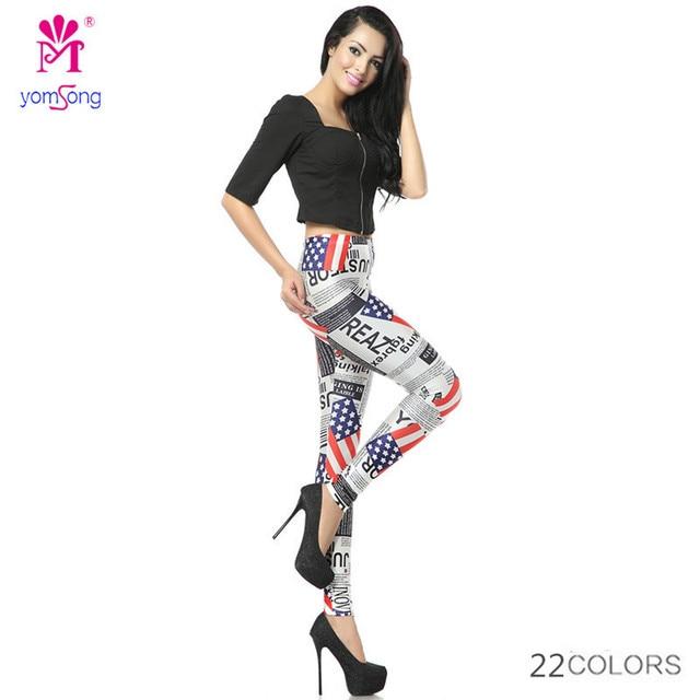 2016 Yomsong Wholesale Manufacturers Factory Cheap Discount Capris Leggings Floral Printing Pants Fitnes Casual 16333