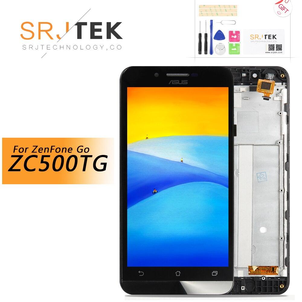 5 pour Asus ZenFone Aller ZC500TG Z00VD LCD Affichage Matrice Écran Tactile Digitizer Assemblée Avec Cadre Pièces De Rechange