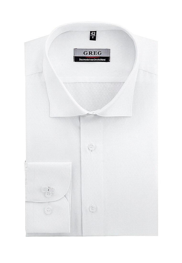 Shirt men's long sleeve GREG 103/199/1170/ZV_GB White plus size bird and floral print v neck long sleeve t shirt