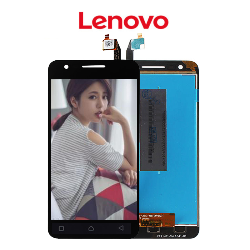 Original 5.0 IPS 720x1280 For Lenovo C2 K10a40 Display Vibe C2 LCD Touch Screen Digitizer Assembly Dual SIM Screen Replacement
