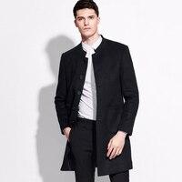 Бренд 58% шерсть Мужская одежда однобортный пиджак мужские пиджаки и Куртки 2016 тонкий серый цвет синий, черный; Большие размеры 34–43 Повседне