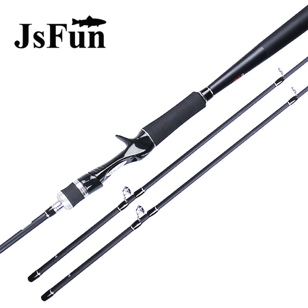 JSFUN 2.1m Fishing Rod 2 tips ML M MH 2 Sections Carbon Spinning and Casting Fishing Rods Fishing pole Ultra light FG105