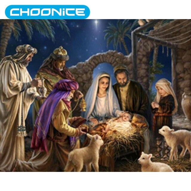 jesus christ child diamond painting christmas birth jesus