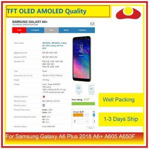 Image 4 - 10 cái/lốc Dành Cho Samsung Galaxy Samsung Galaxy A6 Plus 2018 A605 A6 + MÀN HÌNH Hiển Thị LCD Với Bộ Số Hóa Màn Hình Cảm Ứng Bảng Điều Khiển Màn Hình Lắp Ráp hoàn chỉnh