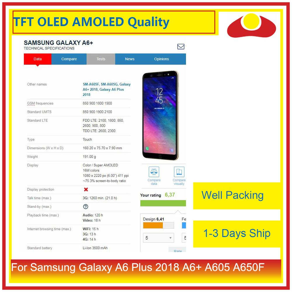 Image 4 - Оригинал для samsung Galaxy A6 Plus 2018 A605 A6 + ЖК дисплей с сенсорным экраном дигитайзер панель монитор в сборе-in ЖК-экраны для мобильного телефона from Мобильные телефоны и телекоммуникации