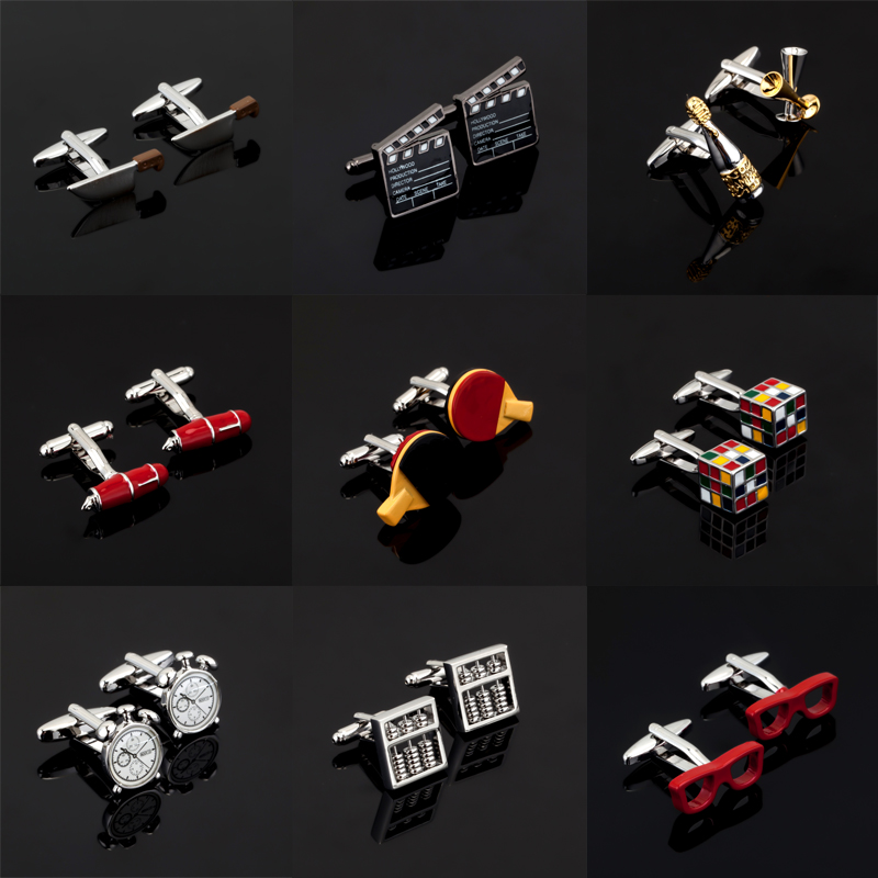 Luxury shirt Christmas day gift pattern cufflink for mens Brand cuff buttons hotsale cuff links High Quality abotoaduras Jewelry ...