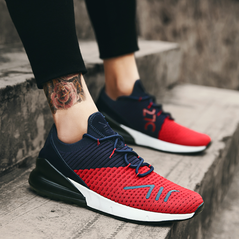 2018 Men's Casual Shoes Lace Up Light Weight Breathable Male Black Red Walking Shoes Spring Summer Brand Fashion Adult pinsen fashion women shoes summer breathable lace up casual shoes big size 35 42 light comfort light weight air mesh women flats
