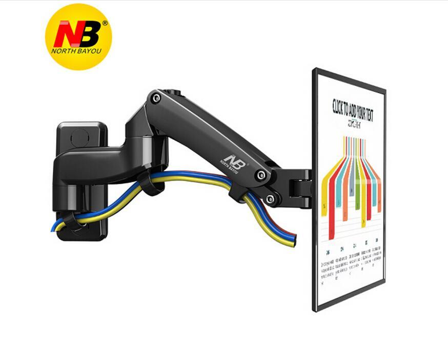 NB F150 Aluminum Alloy 360 Degree 17 27 Monitor Holder Gas Spring Arm LED LCD TV
