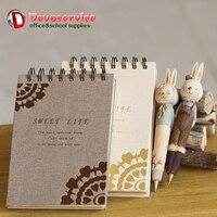 Rabbit Pen Notebook Gift Set Kawaii Couple Rabbits Diary Shool Office Supplies Stationary Birthday Valentine S