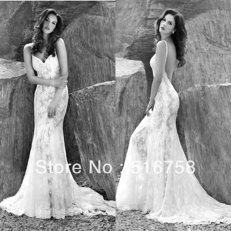 Spaghetti Strap Lace Mermaid Y Most Beautiful Wedding Gowns Backless Dress In Dresses From Weddings Events On Aliexpress Alibaba
