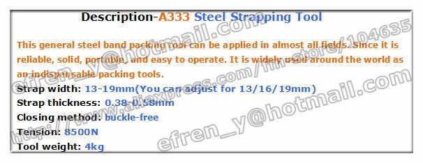 Низкая цена + высокое качество! A333 Руководство Sealless combianted металл/стали связывая машина, стали полосы машина упаковки для 12.7-19 мм