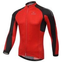 XINTOWN Cyclisme Jersey Rouge Longue Pleine Manches VTT Vêtements Hommes Vélo Jersey Maillot Ciclismo Printemps Hiver Cyclisme Vêtements