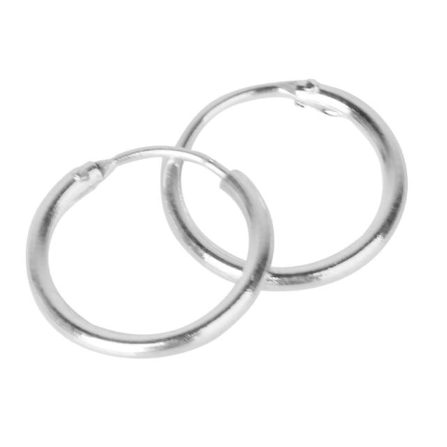 3 Pairs Non Allergic 925 Sterling Silver Sleepers Hinged Hoop Earrings 8 10 12mm Ee