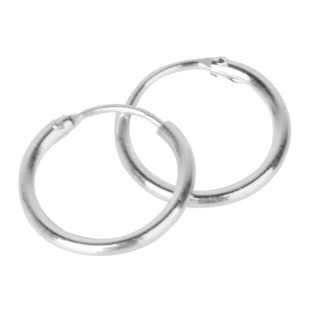626e2b963bf7 3 Pairs Non-allergic 925 Sterling Silver Sleepers Hinged Hoop Earrings 8 10  12mm ee
