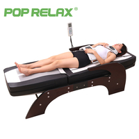 POP RELAX Korea Jade massage bed electric heating jade stone spine relax massager health care full body rolling massage bed