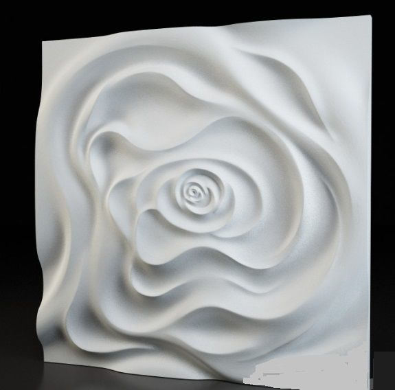 Flower 3d Wall Panels : Plastic mold for plaster d decorative wall panels quot rose