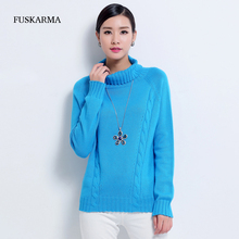 2016 Winter 100% Cashmere Sweater Women Turtleneck Pullovers Solid Wool Sweater Fashion Warm Basic Shirt Clothing Free Shipping
