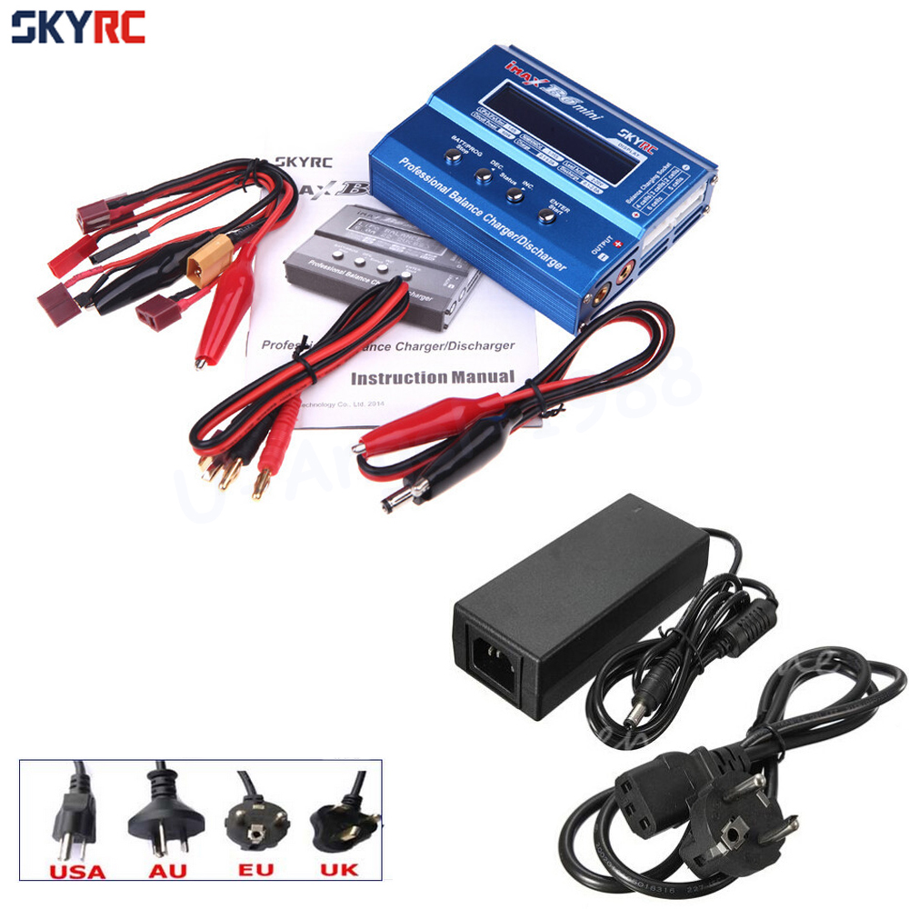 Original SKYRC IMAX B6 MINI 60W Balance RC Charger/Discharger For RC Helicopter Re-peak for NIMH/NICD Aircraft + Power Adpater