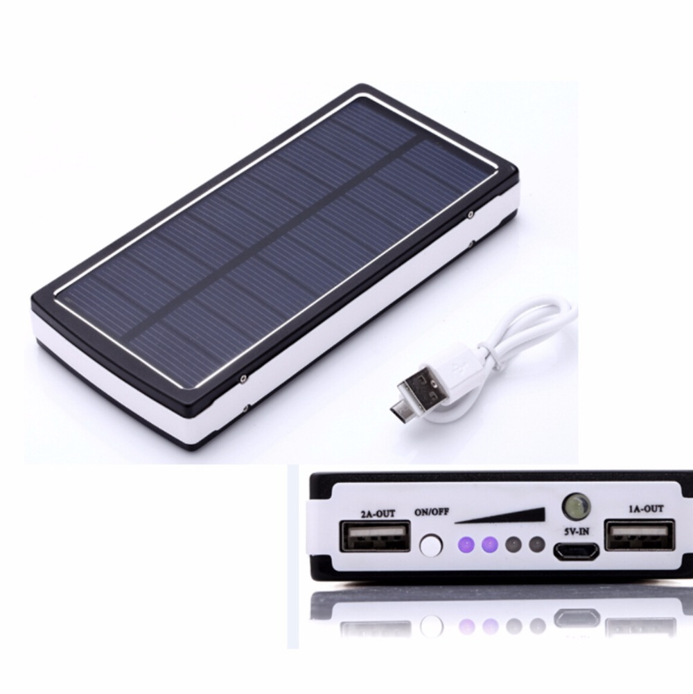sale solar power bank 20000mah real capacity solar charger external battery dual usb output. Black Bedroom Furniture Sets. Home Design Ideas