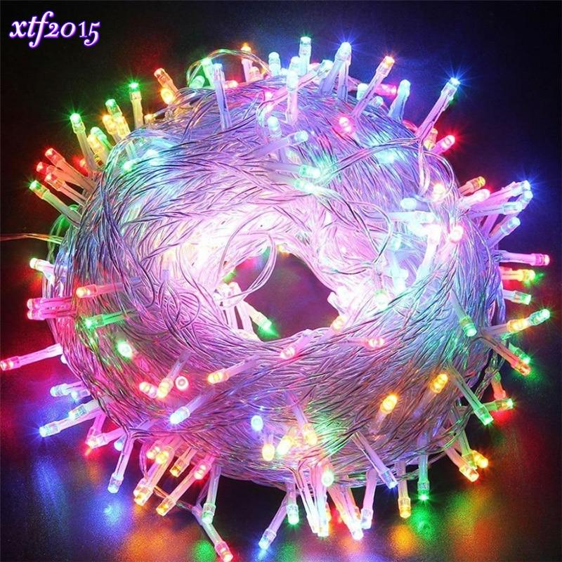 Industrious 110v/220v Led String Garland Light 20m Holiday Fairy Lighting For Christmas Festival Party Garden Yard Outdoor Decoration Lights & Lighting