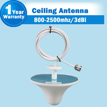 2G 3G GSM 3G WCDMA UMTS 2100 4G LTE 3dBi 800 to 2700MHz Cell Phone Mobile Signal Indoor Internal Ceiling Antenna For Booster