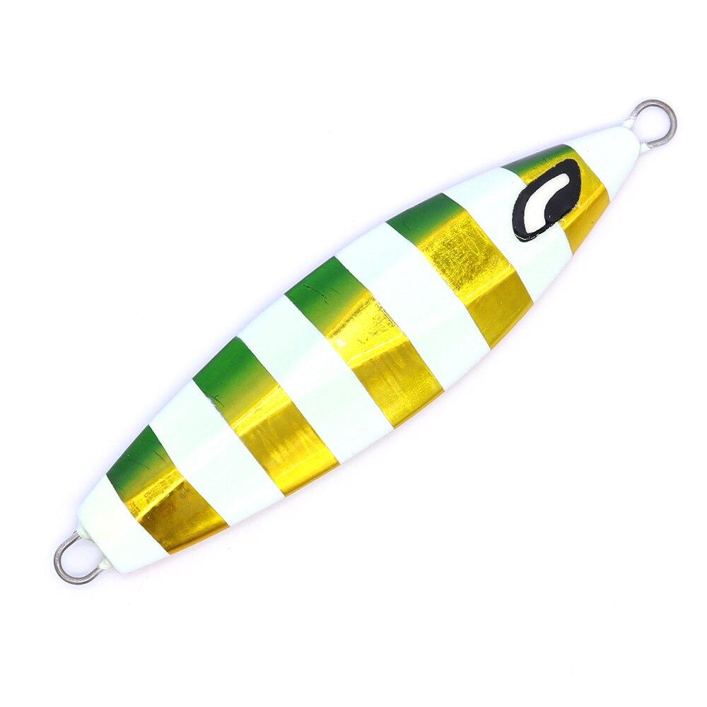 Купить с кэшбэком CASTFUN 100g 130g 160g 200g 1pc Slow Jigging Lure Japan Design Ocean Stinger Wing Lure Metal Jig Lead Jig
