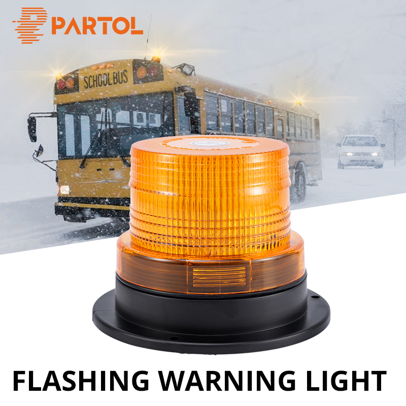 Proster Emergency Warning Strobe Light 12V 24V 40 LEDS 7 Flash Modes Waterproof Magnetic Flashing Recovery Beacon Amber Light 40W for Truck Car Vehicle