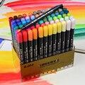 STA маркеры на водной основе с наконечником для рисования 12 24 36 48 цветов Набор акварельных мягких маркеров для художников