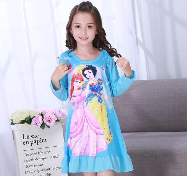 Aliexpress.com : Buy Autumn Kids Sleeping Dress Toddler Girls ...